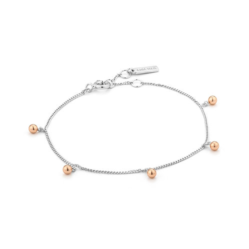 Ania Haie Silver Orbit Drop Balls Bracelet