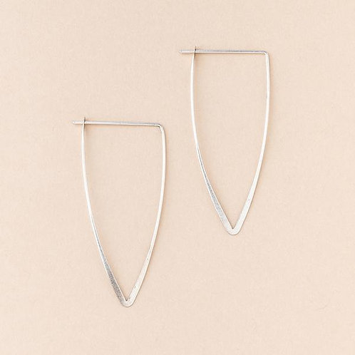 Refined Earring Galaxy Triangle Silver
