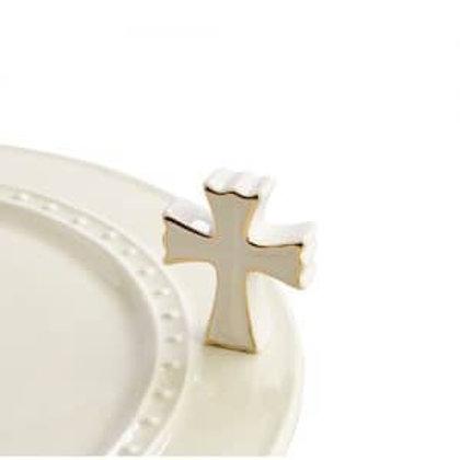 Nora Fleming Mini - White Cross