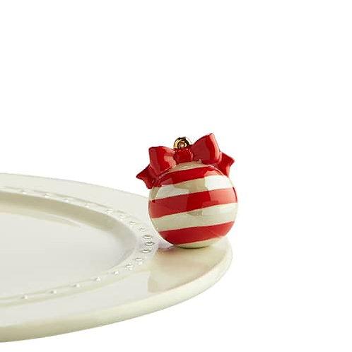 Nora Fleming Mini - Deck the Halls Red & White Ornament