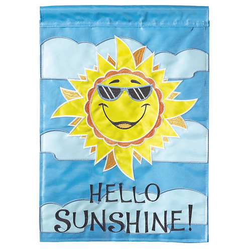 Hello Sunshine Garden Flag