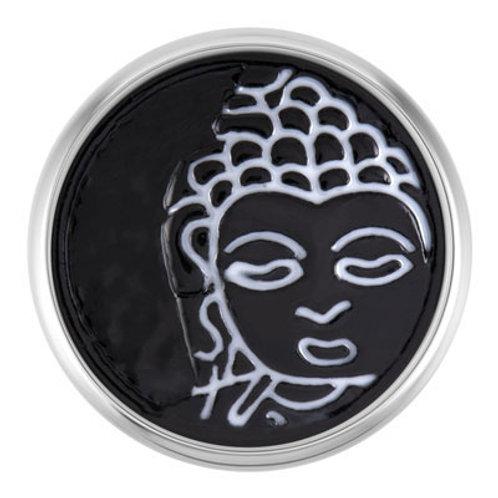 Black and White Buddha Face
