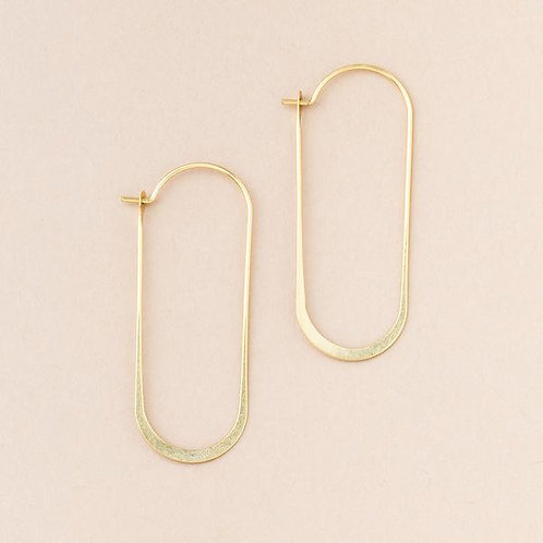 Refined Earring Cosmic Oval Gold