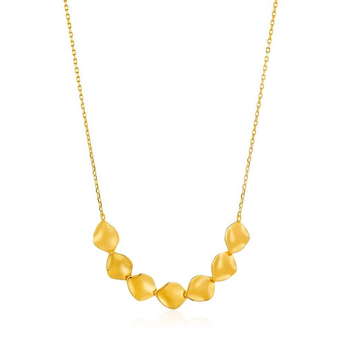 Ania Haie Gold Crush Multiple Discs Necklace