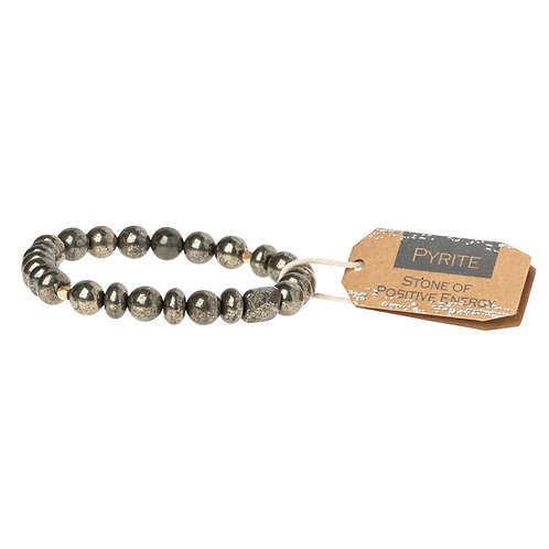 Stone Stacking Bracelet Pyrite Stone of Positive Energy