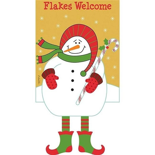 Snowmanflakes Welcome Graden Flag