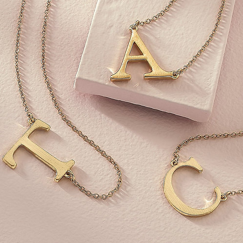Initial Necklaces Gold or Silver