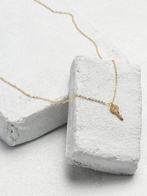 Mini Key Necklace - Love