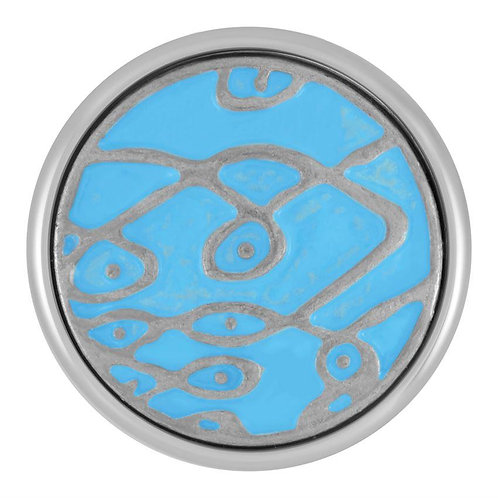 Painted Design Blue GingerSnap