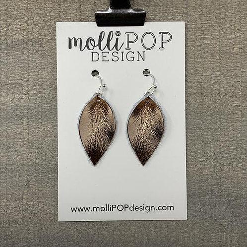 Mini Pinched Petal Earrings