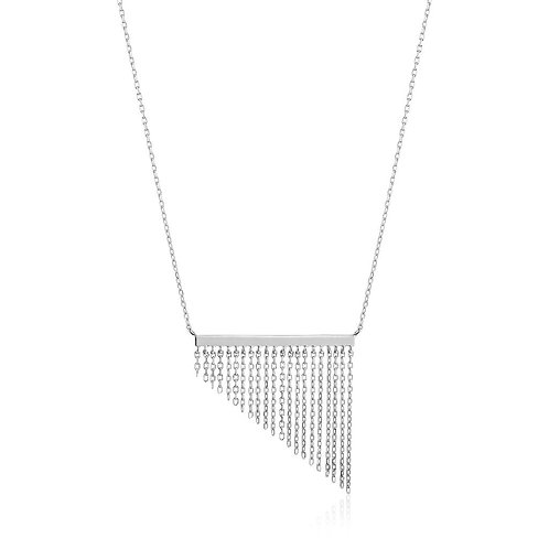 Ania Haie Silver Fringe Fall Necklace