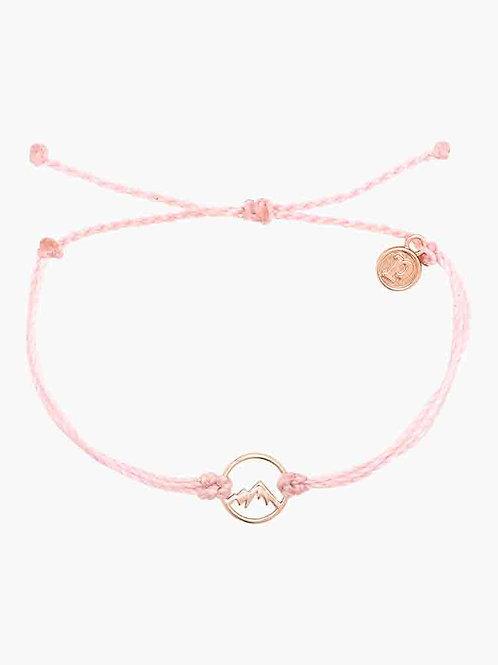 Pura Vida Aspen Rose Gold Bracelet Baby Pink