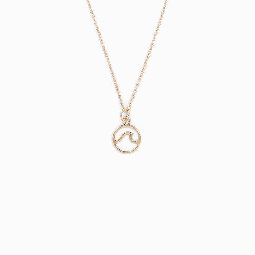 Pura Vida Rose Gold Wave Necklace