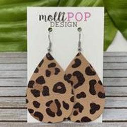 Cheetah Large Teardrop Earrings