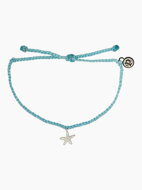 Pura Vida Enamel Starfish Bracelet Blue
