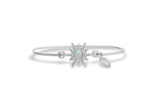 Pave Starburst White Opal Bracelet