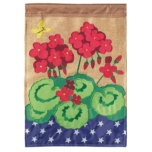 Geranium Garden Flag