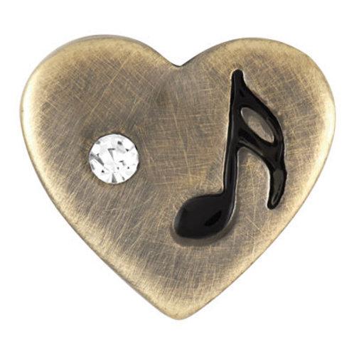 Petite Brass Heart Note