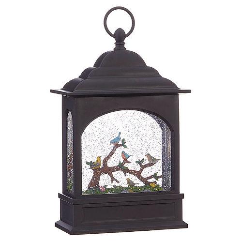 Birds on a Branch Lighted Water Lantern