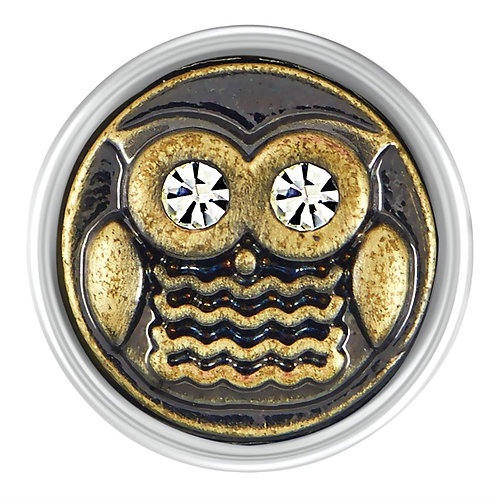 GINGER SNAPS PETITE BRASS OWL