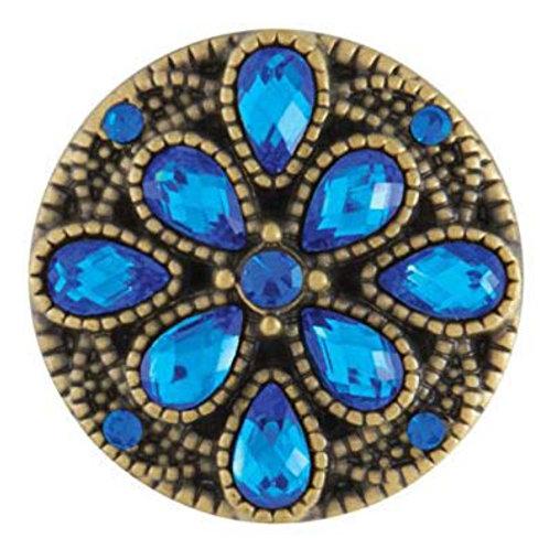 Antique Brass Lovely Blue Snap