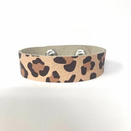Cheetah Leather Cuff Bracelet