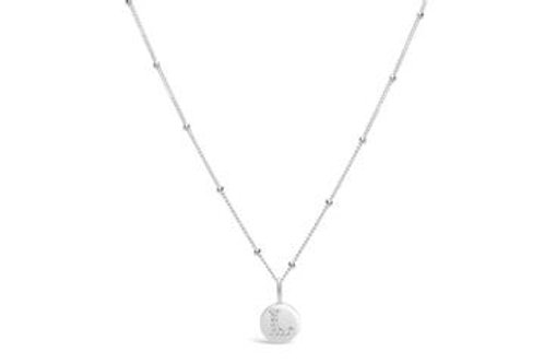 Pave Love Initial Necklace
