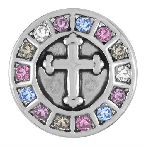 MULTI COLOR STONE CROSS
