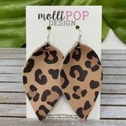 Pinched Petal Cheetah Earrings