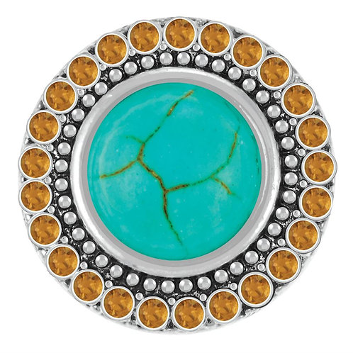 GINGER SNAPS TURQUOISE WITH SMOKEY TOPAZ CRYSTALS