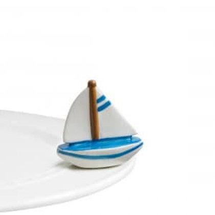 Nora Fleming Mini - Sail Me Away Sailboat