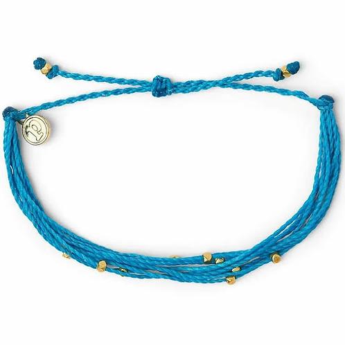 Pura Vida Malibu Bracelet Neon Blue & Gold