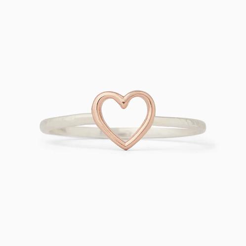 Pura Vida Open Heart Ring