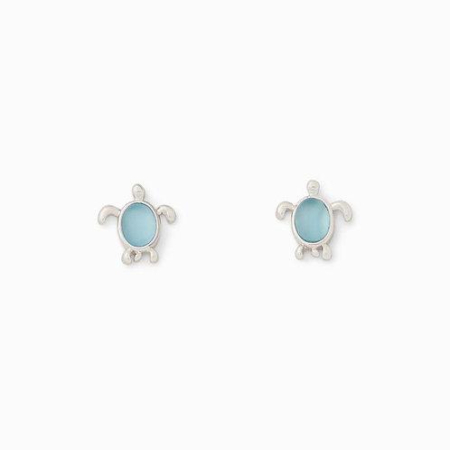 Pura Vida Sea Turtle Silver Earrings
