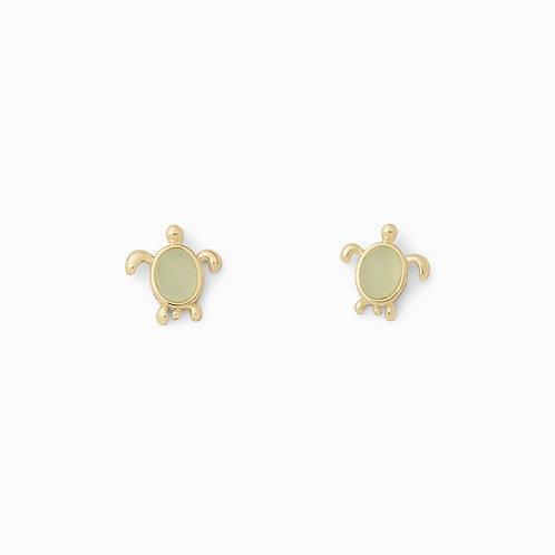 Pura Vida Sea Turtle Earrings Gold