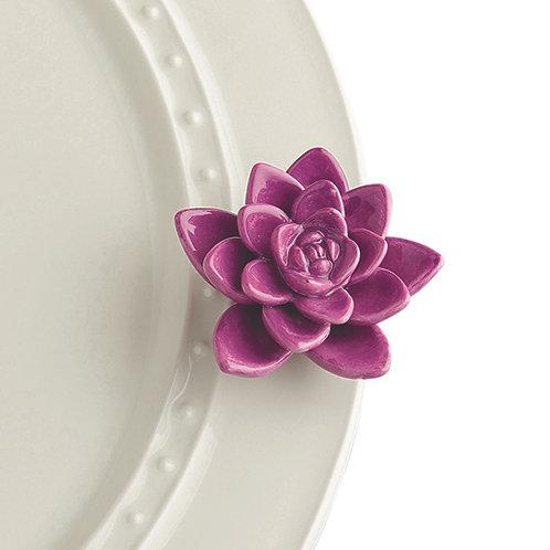 Nora Fleming Mini's - Get Growing Purple Succulent