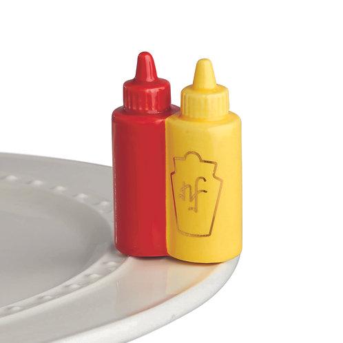 Nora Fleming Mini - Main Squeeze Ketchup & Mustard
