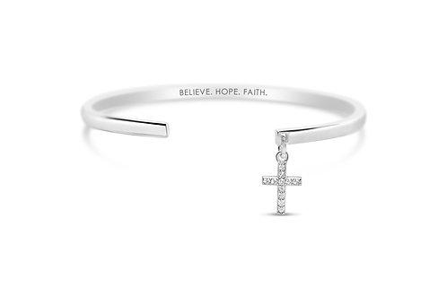 Believe Hope Faith Dangle Cuff