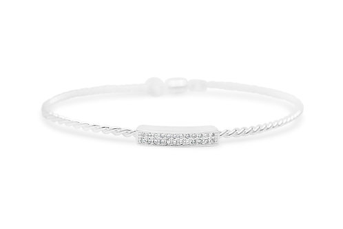 Power of Attraction Pave Double Bar Bracelet