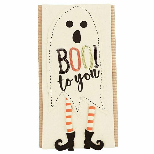 Mud Pie Boo to You Sequin Pillow Wrap