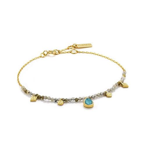Ania Haie Turquoise And Labradorite Gold Bracelet