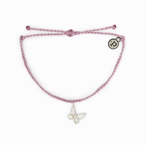 Pura Vida Charity Save the Butterflies Bracelet Purple