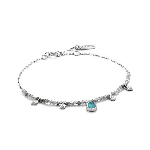 Ania Haie Turquoise And Labradorite Silver Bracelet