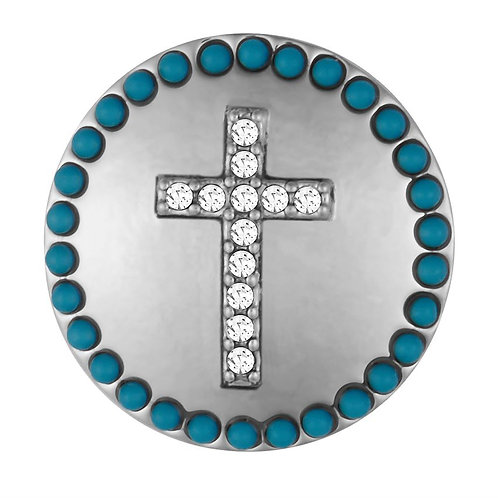 GINGER SNAPS CROSS WITH TURQUOISE SURROUND