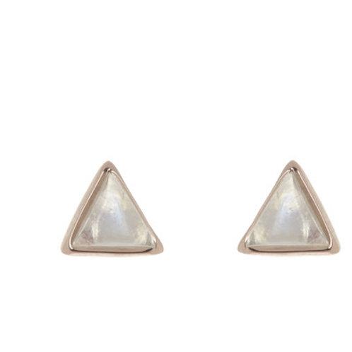 Gemstone Triangle Stud Earring