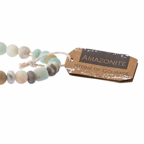 Stone Stacking Bracelet Amazonite Stone of Courage
