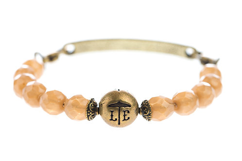 Taupe Logo Bangle