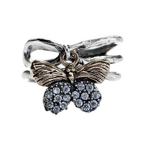 NATURAL BEAUTIES RING- BUTTERFLY- SIZE 8