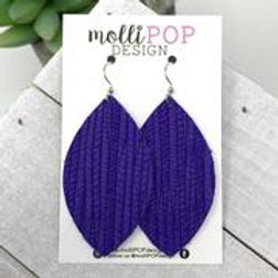 Palm Leaf Purple Earrings