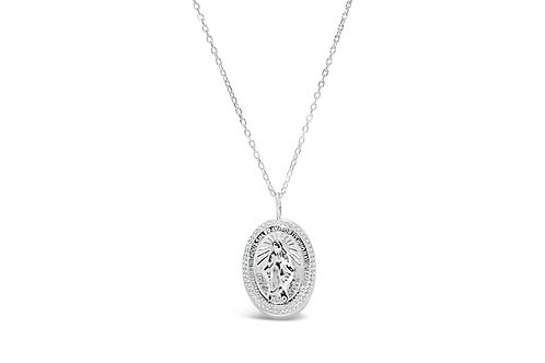 Mother Mary Pave Icon Necklace